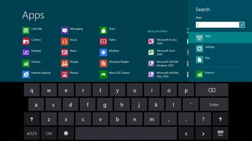 Windows 8 Release Preview keyboard