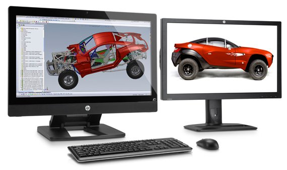 HP Z1 all-in-one workstation