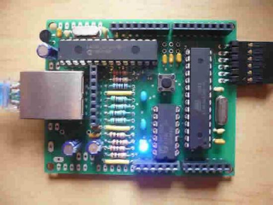 Nanode-powered circuit board