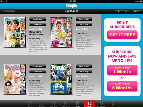 People Magazine iPad app