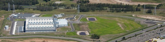 An aerial view of the Aurora data centre