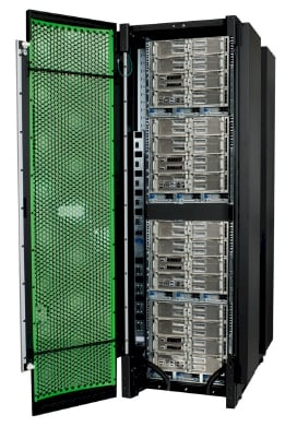 A rack's worth of SGI's UV 2000 supercomputer