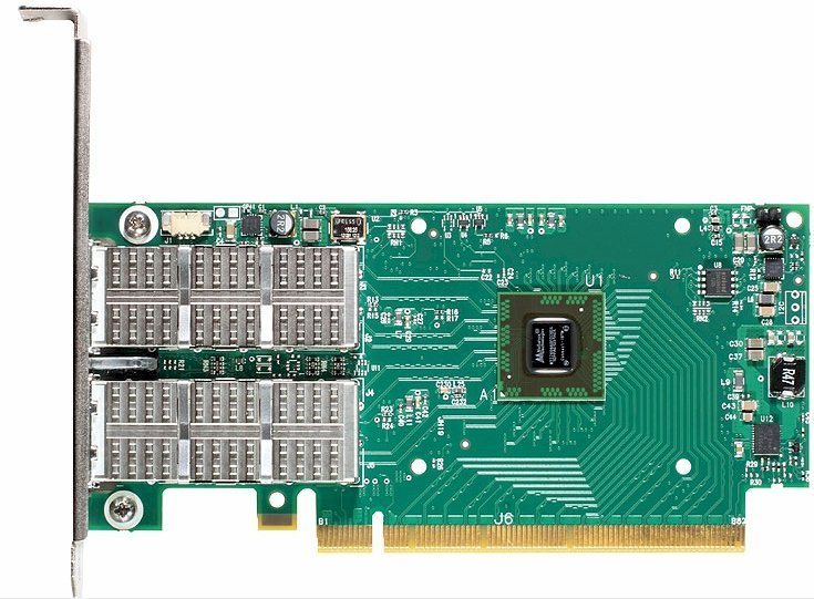 The Connect-IB dual-port InfiniBand FDR adapter