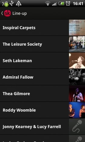 Songkick Concerts Android app screenshot