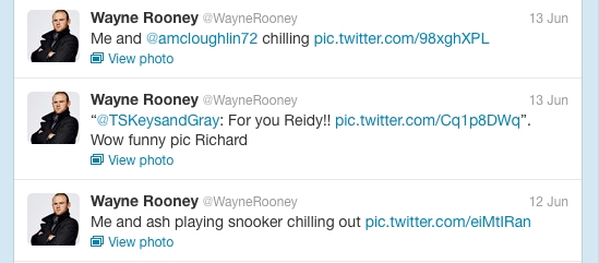 Wayne Rooney's Twitter, screengrab