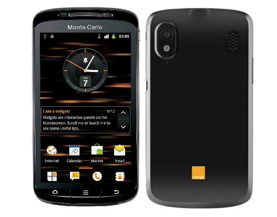 Orange Monte Carlo Android smartphone