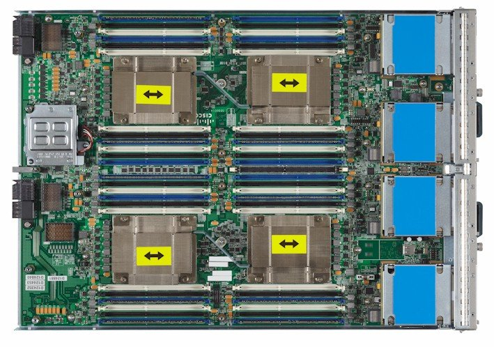 Internals of the B420 M3 blade server
