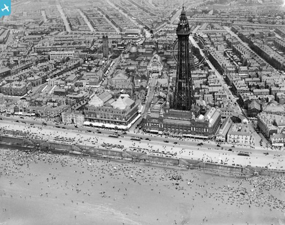 View of Blackpool in 1920. Image: Britain From Above
