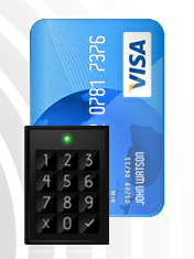 Credit card and Bluetooth reader