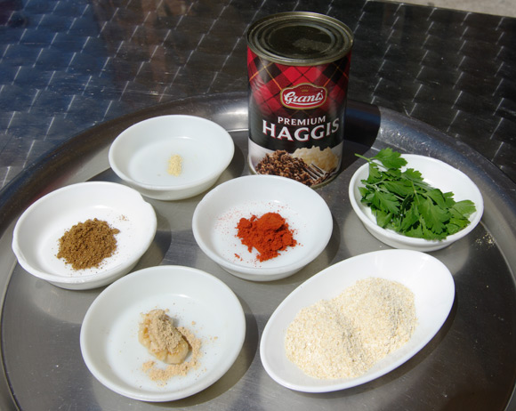The ingredients for the pakora