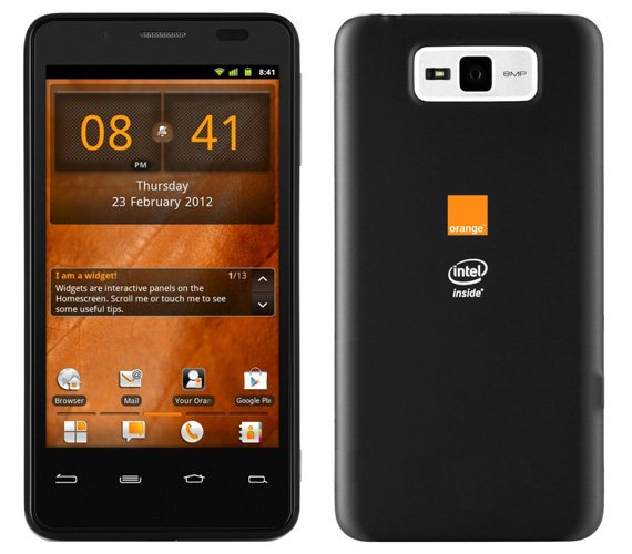 Orange San Diego Intel CPU Android smartphone