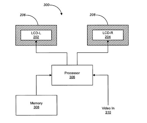 Apple HMD patent drawing