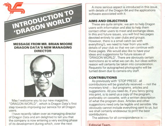 Brian Moore in, from DragonWorld, December 1983
