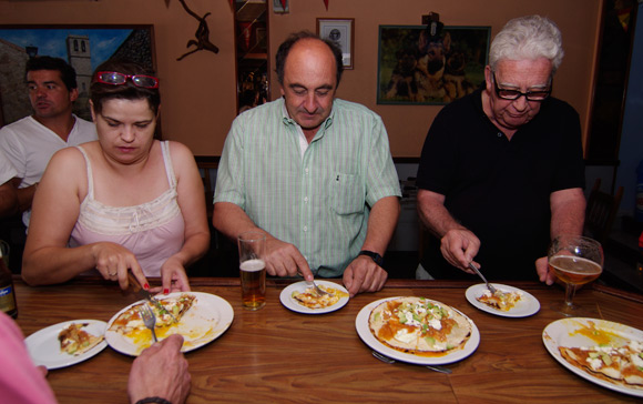 Locals tuck into huevos rancheros