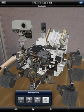 NASA's Spacecraft 3D app