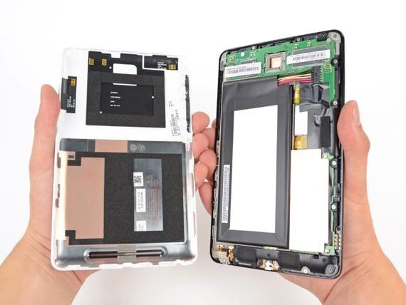 Inside the Nexus 7. Source: iFixit.com