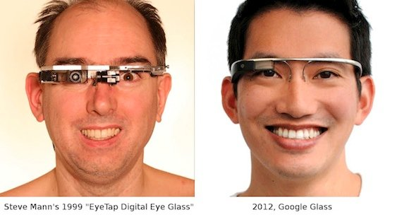 Steve Mann's computer-aided glasses are comparable to the Glasses project Google are working oncredit - Steve Mann, from website
