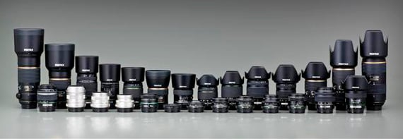 Pentax K-01 lenses