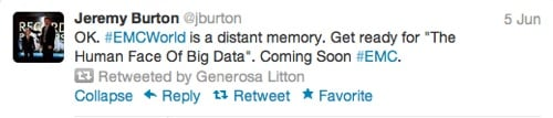 Big Data day tweet