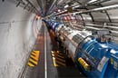 View of the LHC tunnel sector 3 to 4
