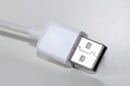 generic shot of plain white USB cable