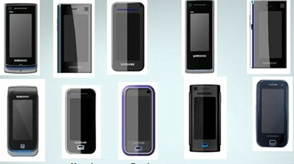 Samsung's summer 2006 phone designs