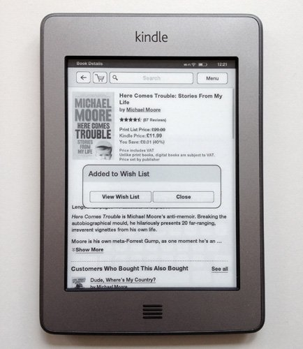 Amazon Kindle Touch e-book reader