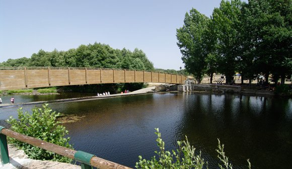 The bridge over the river Aravalle