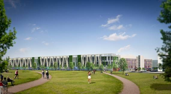 A sketch of the new iCity on the Olympic site, planned for 2014, credit iCity