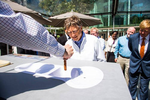 Photo of Bill Gates at the Reinvent the Toilet Fair, August 2012