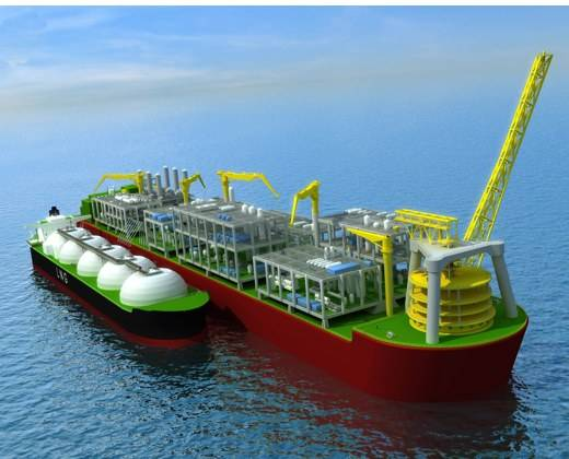 The Prelude floating liquefied natural gas processing facility