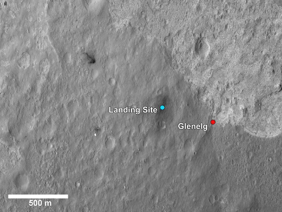 curiosity landing site