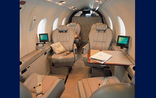 The interior of Simon Hackett's plane