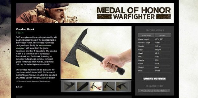 Medal of Honour - Voodoo Hawk promotion