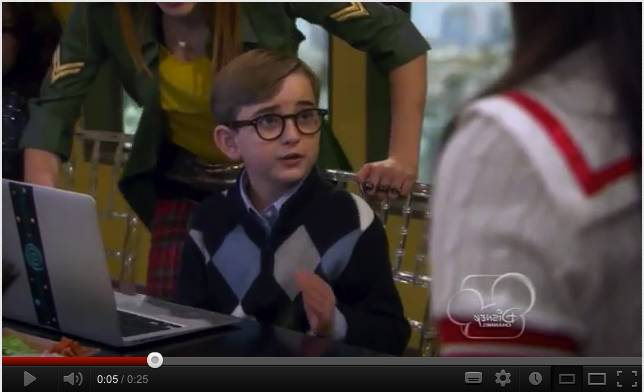 Pre-teen sysadmin on the Disney show Shake it Up