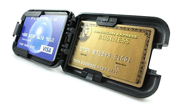 Flipside RFID-shielded wallet
