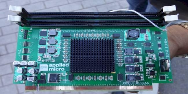 AMCC's X-Gene server card
