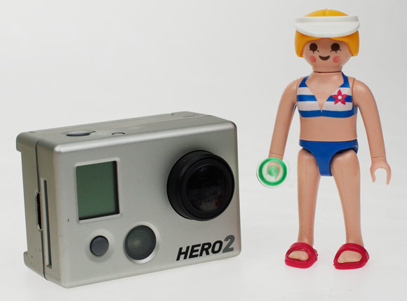The HERO2 with our Playmobil Paris Hilton