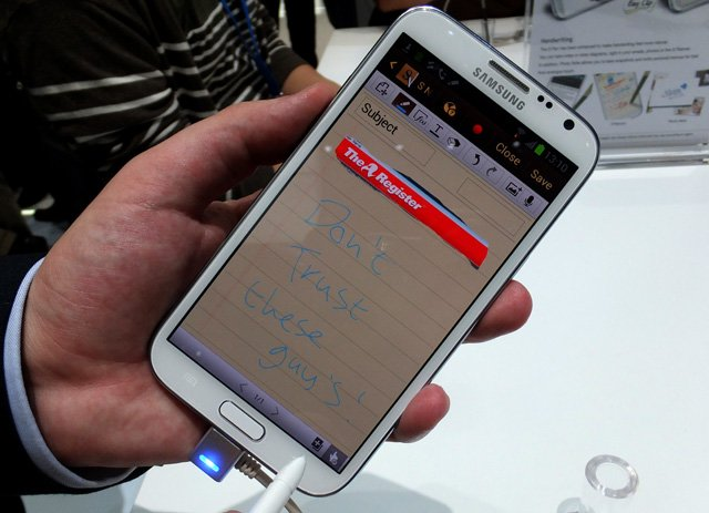 Samsung Galaxy Note 2 Android smartphone hands-on review