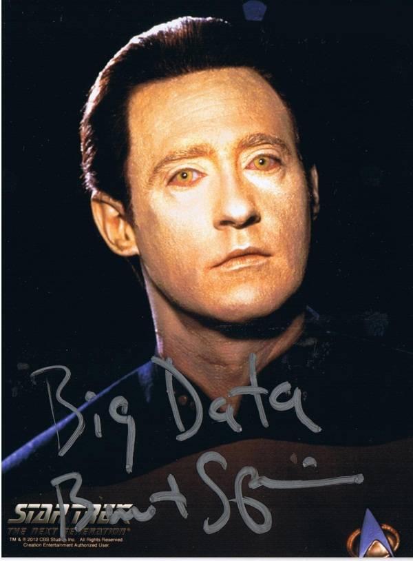 Brent Spiner signed photo saying 'Big Da