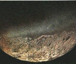 Image of Neptune's moon Triton taken by Voyager 2