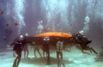 Underwater battle in Thunderball, choreographed by Ricou Browning