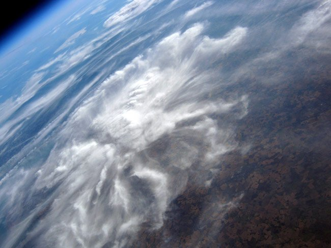 High-altitude snap from Dave Akerman's Cloud 7 payload