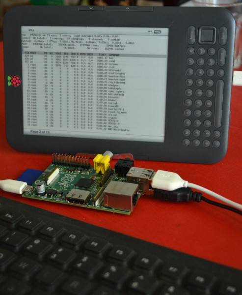Raspberry Pi using Kindle as its monitor