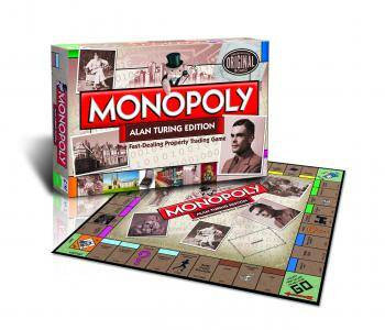 Alan Turing themed Monopoly, credit Bletchley Park and Winning Moves