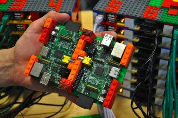 Raspberry Pi and Lego Supercomputer, credit: Simon J Cox 2012