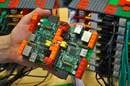 Raspberry Pi and Lego Supercomputer, credit Simon J Cox 2012