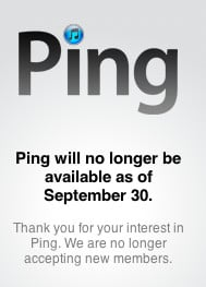 Ping is dead, iTunes notic