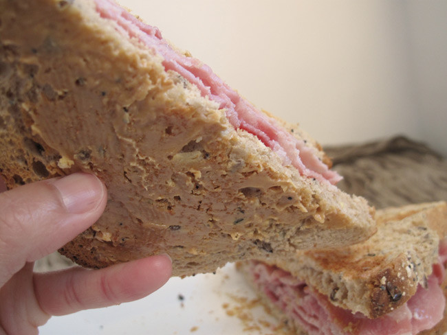 Jenny Ng's bacon sarnie - with peanut butter