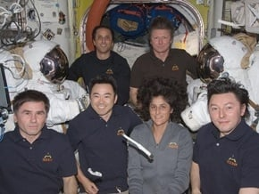 Expedition 32 crew onboard the ISS